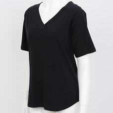 Rozen Kavalier Stone Studded Wing Print T-Shirt