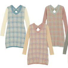 Honey Salon Check Knit Dress
