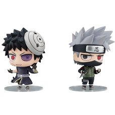 Chimi-Mega Buddy Series Naruto Shippuden Kakashi Hatake & Obito Uchiha Set