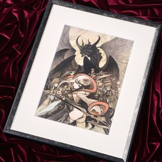 Terra Battle Dragon Battle Line Lithograph w/ Frame