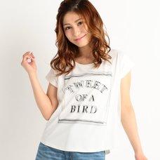 LIZ LISA Tulle Logo T-Shirt