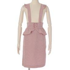 LIZ LISA Checkered Frilly Tight Skirt