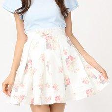 Ank Rouge Flower Print Tuck Skirt