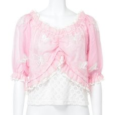 Swankiss Butterfly Chiffon Shirt
