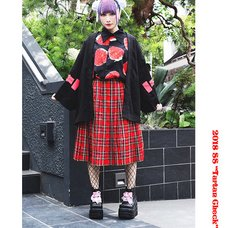 ACDC RAG Tartan Checkered Pleated Skirt