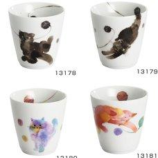 Moko Neko Mino Ware Cups