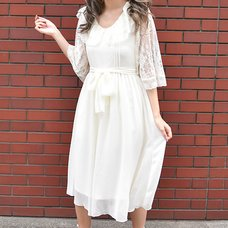 LIZ LISA Chiffon Lace Long Dress