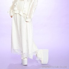 Swankiss Daisy Chain Lace Gaucho Pants