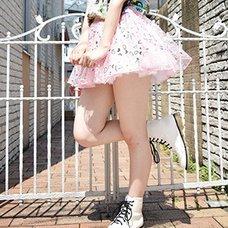 ACDC RAG Heart Tulle Skirt