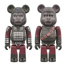 BE@RBRICK Planet of the Apes General Ursus & Soldier Ape 100% 2-Pack
