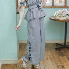 LIZ LISA Check Pattern Wide Pants