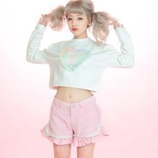 Swankiss Organdy Heart Sweatshirt