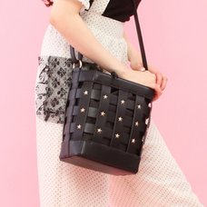 Honey Salon Studded Lattice Bag