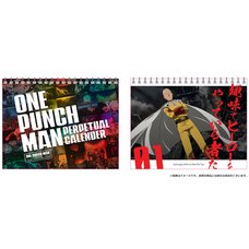 One-Punch Man Perpetual Desktop Calendar
