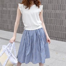 LIZ LISA Knit Top & Stripe Skirt Dress
