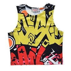 ACDC RAG Spray Art Short Tank Top