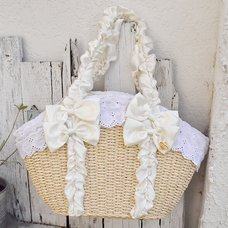 LIZ LISA Frilly Handle Basket-Style Bag