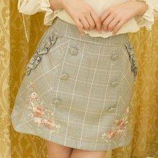 LIZ LISA Check Pattern Trapezoid Skirt