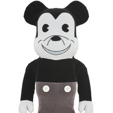 BE@RBRICK Mickey Mouse Vintage Ver. Black & White 1000%