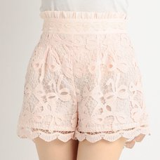 LIZ LISA Ribbon Pattern Lacy Sukapan Skirt