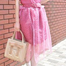 LIZ LISA Sheer Polka Dot Skirt
