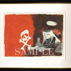 Crimson Pirate Framed Art Print