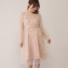 Honey Salon Flower Heart Tulle Dress