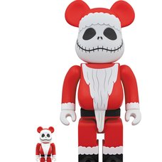 BE@RBRICK The Nightmare Before Christmas Jack Skellington Santa Claus Ver. 100% & 400%