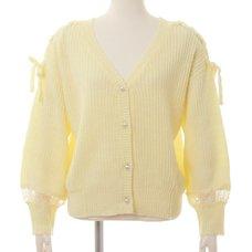 LIZ LISA Shoulder Ribbon Cardigan