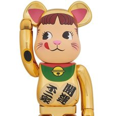 BE@RBRICK Gold-Plated Manekineko Peko 1000%