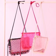 Honey Salon Sequin Tulle Sacoche Bag