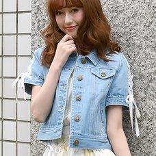 LIZ LISA Lace-up Sleeve Denim Jacket