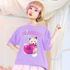 LISTEN FLAVOR Dearest Cherry Bear Big T-Shirt