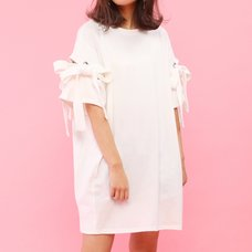 Honey Salon Shoulder Slit T-Shirt Dress