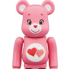 BE@RBRICK Care Bears Love-a-Lot Bear 100%