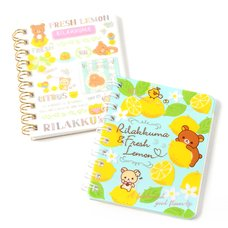 A Basketful of Lemons Rilakkuma Spiral Memo Book