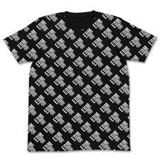 Pop Team Epic EDM All-Over Print Black T-Shirt
