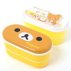 Rilakkuma Two-Tier Lunch Box with Chopsticks