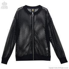 LISTEN FLAVOR Mesh Zip-up Jacket