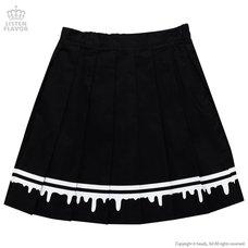 LISTEN FLAVOR Melty Line Pleated Skirt