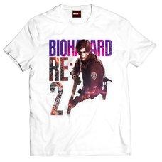 Resident Evil 2 Leon S. Kennedy White T-Shirt