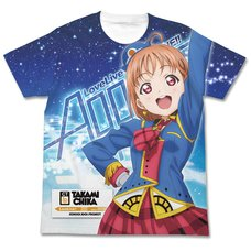 Love Live! Sunshine!! Chika Takami Happy Party Train Ver. White Graphic T-Shirt