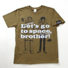 Space Brothers Exhibit Limited Edition T-Shirt (Cardboard Brown)