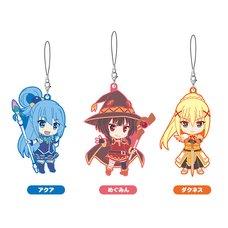 Nendoroid Plus KonoSuba 2 Rubber Strap Set: Aqua / Megumin / Darkness