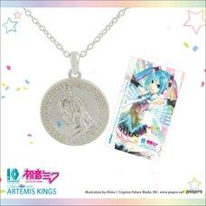 Hatsune Miku 10th Anniversary Rhodium Coin Pendant