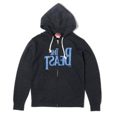 The Beast Zip Hoodie (Dark Heather Navy)