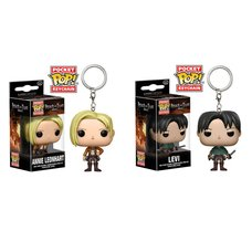 Pocket Pop! Keychain: Attack on Titan - Annie Leonhart & Levi Set