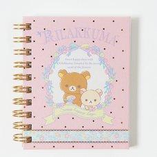 Rilakkuma Spiral-Bound Notebook (Pink)