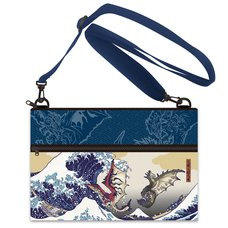 Monster Hunter Rathalos & Rathian x Fugaku Ukiyo-e Sacoche Bag