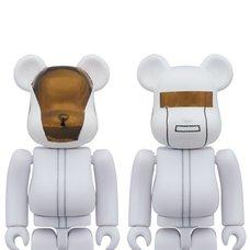 BE@RBRICK 100% Daft Punk (White Suit Ver.) Guy-Manuel de Homem-Christo/Thomas Bangalter 2-Pack